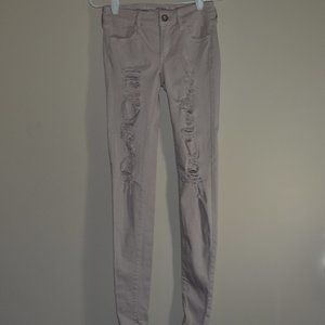 American Eagle Outfitters Light Pink Jeggings